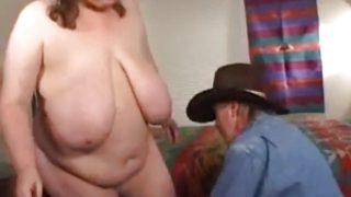 Big Tit BBW Fucks A Cowboy