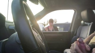 Car Flash – Watches to cum, Shoulda asked for a hand…