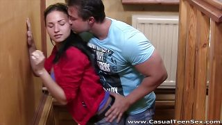 Casual Teen Sex – Hot teen sex on wooden table