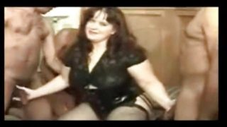 Gangbang Archive – Busty BBW wife gangbang party