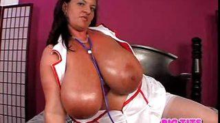 Maria Moore as busty nurse
