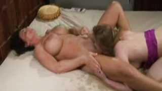 Mom Squirts in Daughter's Mouth