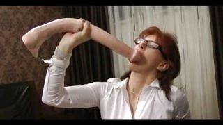 She like huge dildo