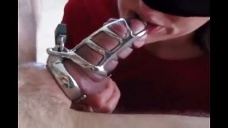 Wife with BBC, locked hubby watches